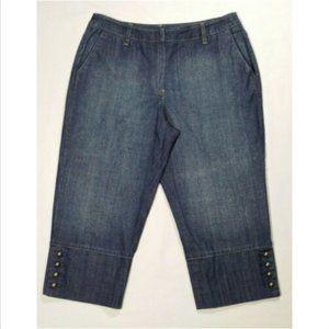 TALBOTS Women Capri Jeans Mid Rise Stretch 2445E1M